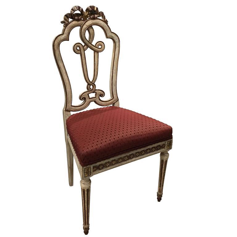 Beautiful Set of Ten 18th Century Italian Venetian Side Chairs For Sale