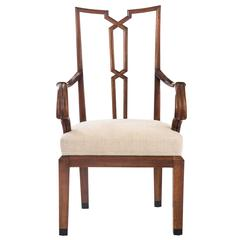 Bruno Ernst Scherz, a Rare if Not Unique German Carved Walnut Armchair