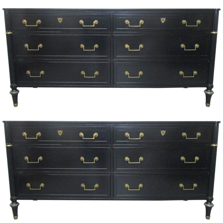Pair of Matching Baker Six-Drawer Dressers