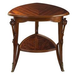 A French Art Nouveau Tri-cornered Table Louis Majorelle
