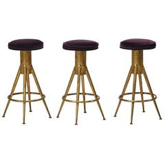 Set of Three Mid-Century Italian Bar Stools