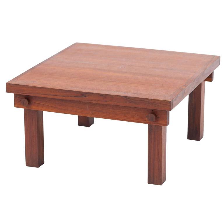 Modernist Indian Teak Side Tables