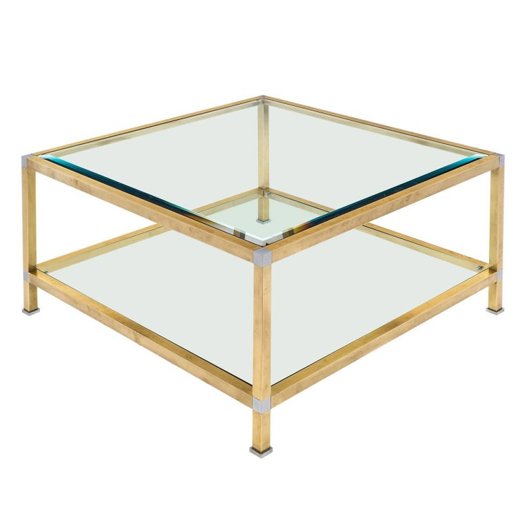 French Vintage Mid-Century Modern Coffee Table