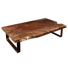 Walnut Slab Coffee Table By Studio Roeper