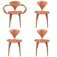 Four Vintage Cherner Chairs for Plycraft