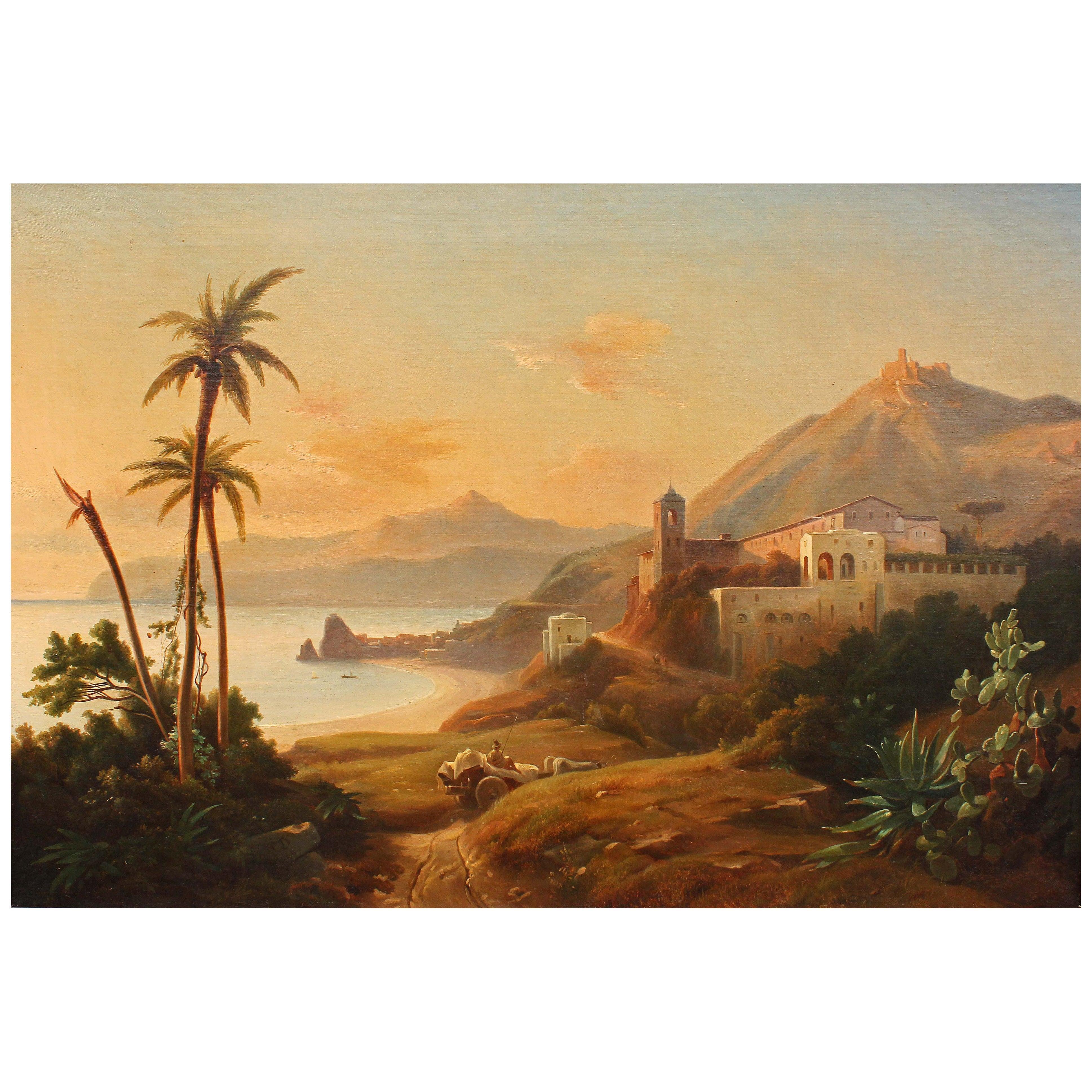 Oil Painting Italian Coast