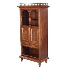 French Renaissance Style Walnut Cabinet, 1880s