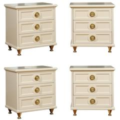 Chic Restored Pair of Small Chests in the Style of Renzo Rutili