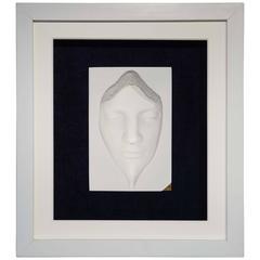 Unique 3D Ceramic Face Sculpture by English Sculptor Abbott Van Dada