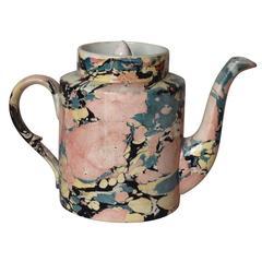 Sarreguemines Tea Pot
