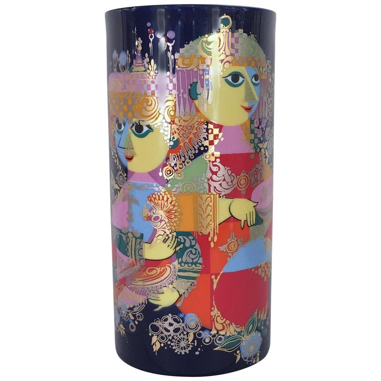 Large Vase by Bjorn Wiinblad for Rosenthal, 1001 Nights Series