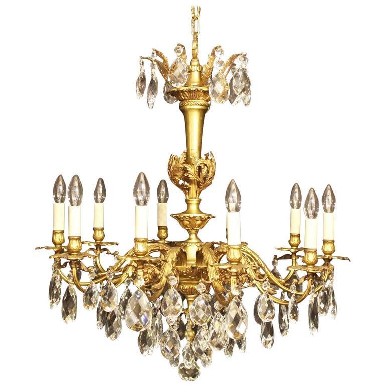 Italian Gilded Ten-Light Antique Chandelier