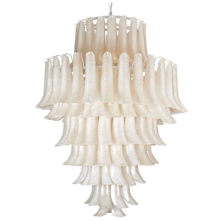 """Murano """"Scavo"""" Glass Selle Chandelier For Sale"""