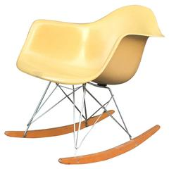 Herman Miller Eames Ochre Rar Rocking Chair