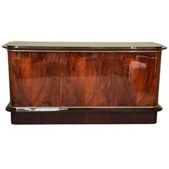 Art Deco French Breakfront in Walnut