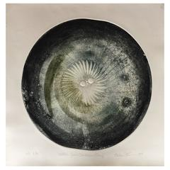 Melissa Strawser Bertoia Junior Dandelion Gong Intaglio Print, 2017