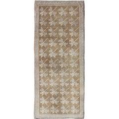 Vintage Turkish Tulu Rug with Tribal, Geometric Elements & Masculine Background