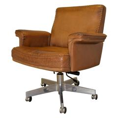 Vintage De Sede DS 35 Executive Swivel Armchair, 1960s