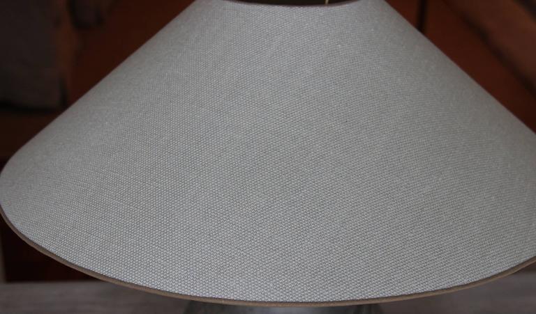 Chinese Han Dynasty Unglazed Vase Antique Table Lamp 7
