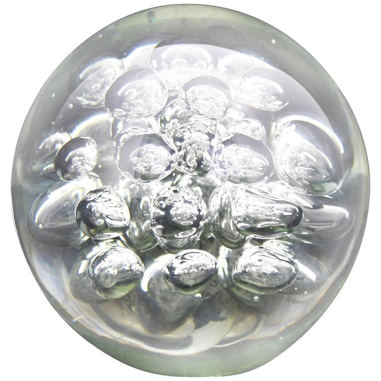 glass ball bubbles paperweight mid century modern sculpture for sale