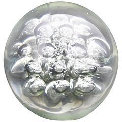 Glass Ball Bubbles Paperweight Mid-Century Modern Sculpture