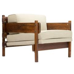 """Brazilian Modern Rosewood """"Franco"""" Lounge Chair by Sergio Rodrigues"""