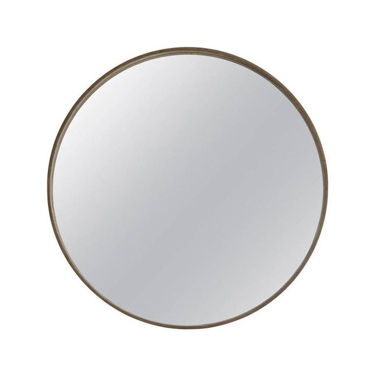 Medium Basic Grey Suede Mirror by ASH NYC