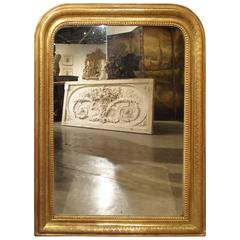 Antique Giltwood Louis Philippe Mirror, France, Late 1800s