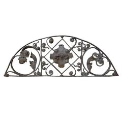 19th Century French Wrought Iron Demilune Traverse