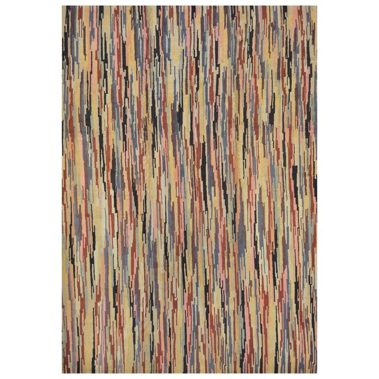 Mid-20th Century Hooked Rug from North America