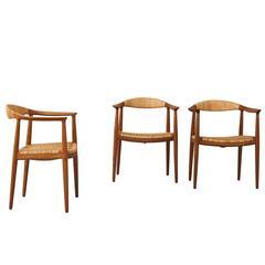 "Hans Wegner ""The Chair,"" Set of Three"