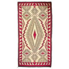 Large and Rare Antique Navajo Klagetoh Rug