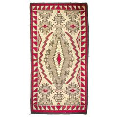 Large and Rare Antique Navajo Klagetoh Rug