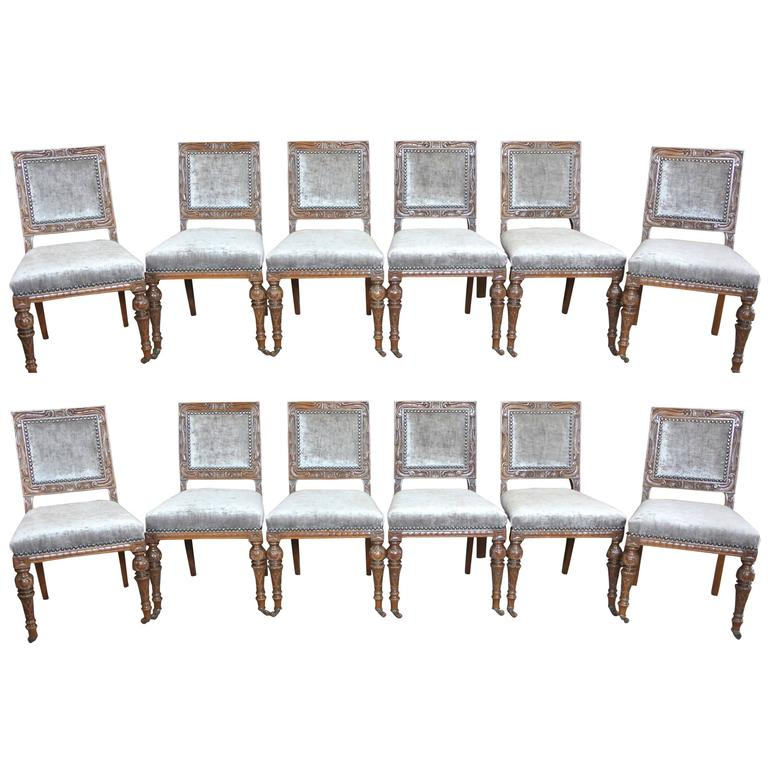 12 Gillows 19th Century Dining Chairs 1
