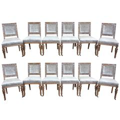 12 Gillows 19th Century Dining Chairs