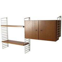 1960s German Mid-Century Wall Shelving System by Mustering International