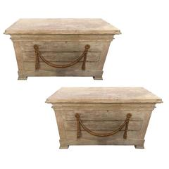 Fine Pair of Stamped Jansen Swedish Fashioned Commode or Nightstands