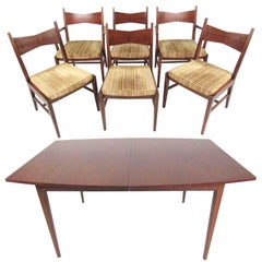 Mid-Century Modern Dining Table and Chairs by Lane
