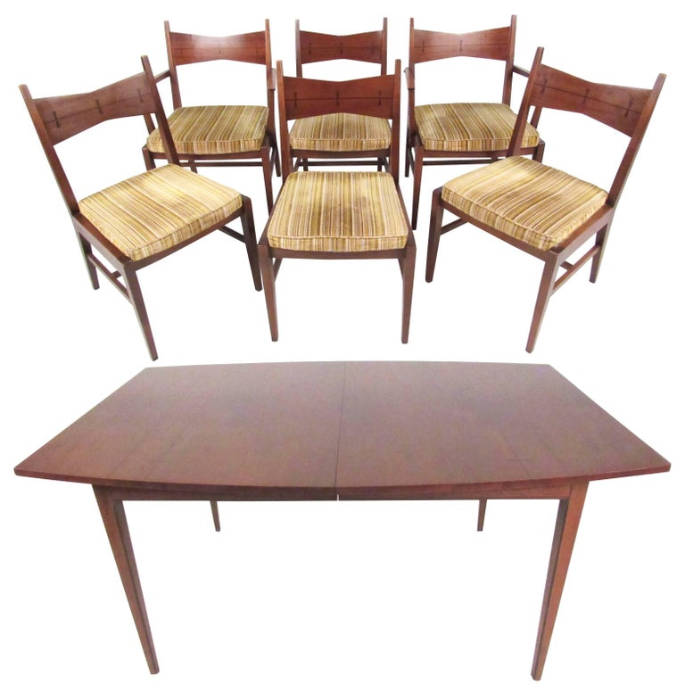 Mid century modern dining table and chairs by lane for for Modern dining tables sale