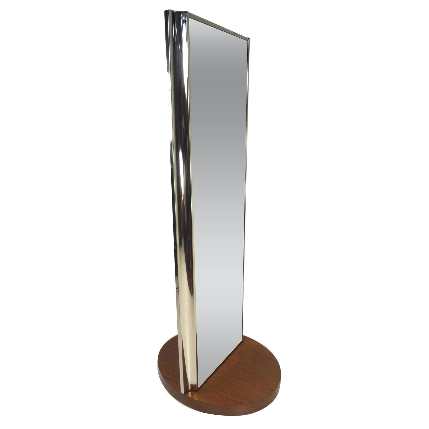 chrome floor mirrors and fulllength mirrors   for sale at stdibs - revolving dressing mirror