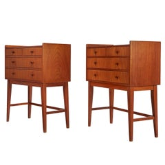 Danish Modern Teak Chest of Drawers or Nightstands, circa 1950's