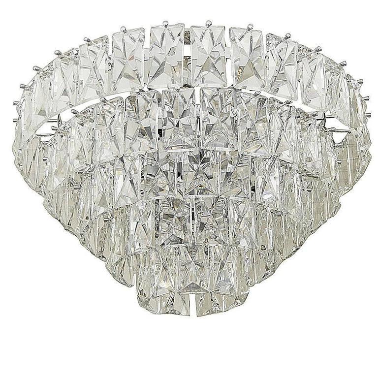 Massive Five-Tier Italian Crystal Chandelier 1
