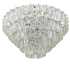 Massive Five-Tier Italian Crystal Chandelier Two Available