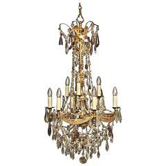 Italian Florentine twelve-Light Antique Chandelier