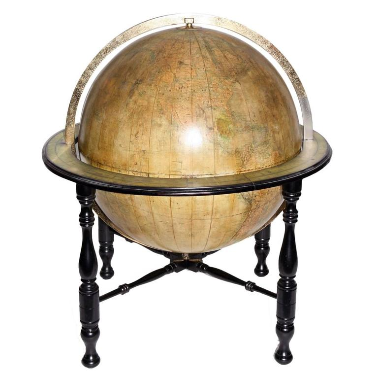 Large Terrestrial Library Globe For Sale