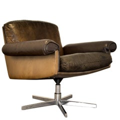Vintage De Sede DS 31 Lounge Swivel Armchair, 1970`s