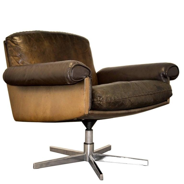 Vintage De Sede DS 31 Lounge Swivel Armchair, 1970`s