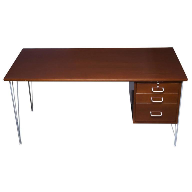 Danish Modern Single Pedestal Desk