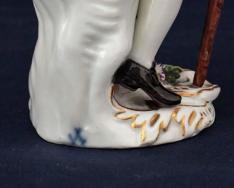 Meissen Porcelain Figure of the Squire of Alsatia, circa 1754 In Good Condition For Sale In Paris, FR