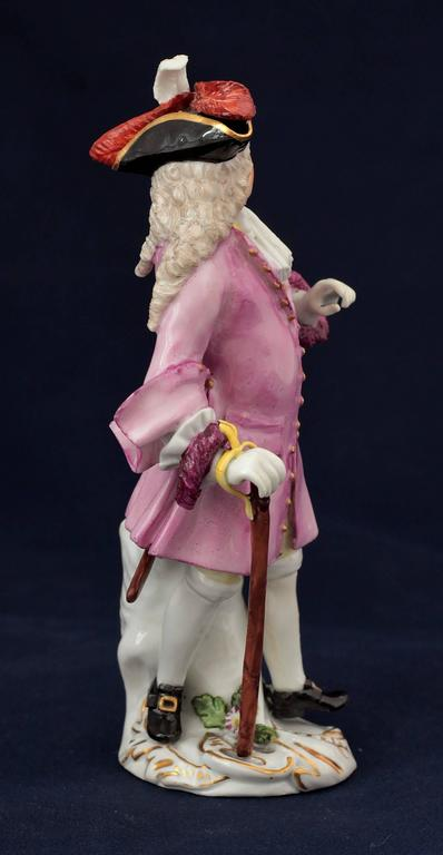 18th Century Meissen Porcelain Figure of the Squire of Alsatia, circa 1754 For Sale